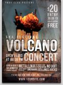 Volcano Woostock Event Flyer Template