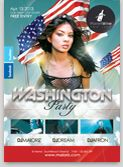 Washington Party flyer template INCLUDE Photo