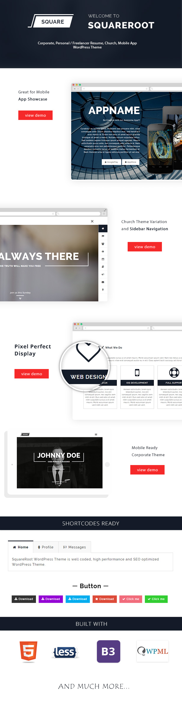 onepage wordpress resume theme for vcard cv personal resume