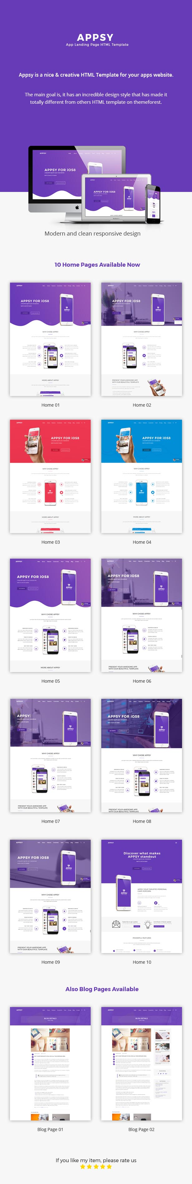 Appsy Landing Page HTML Template