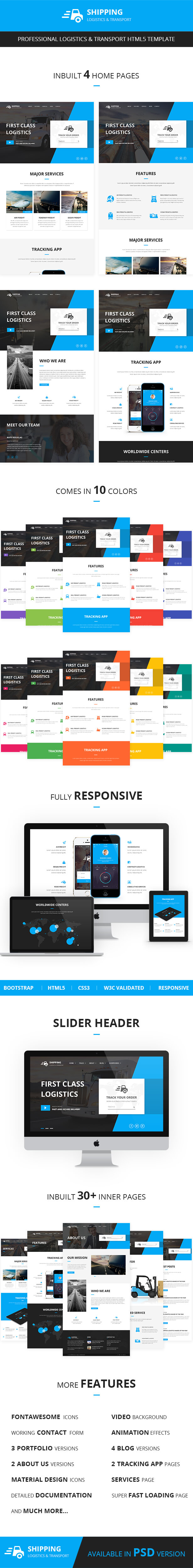 Shipping - Logistics & Transport HTML Template - 1