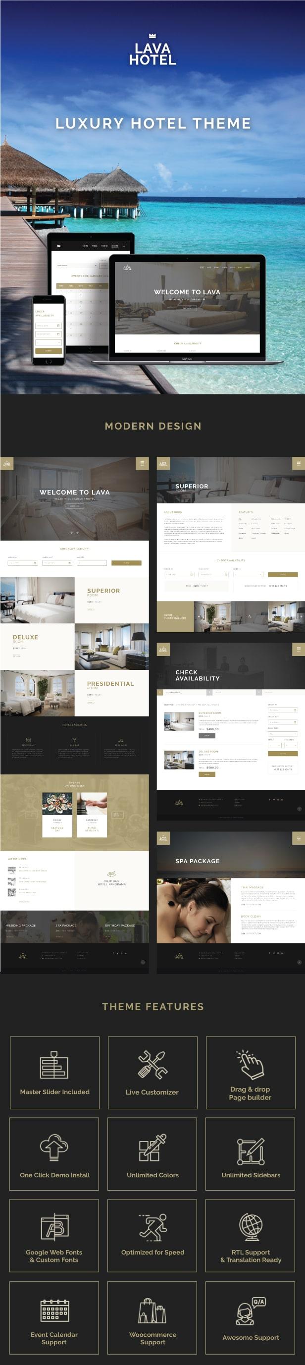 Lava - Luxury Hotel WordPress Theme - 3