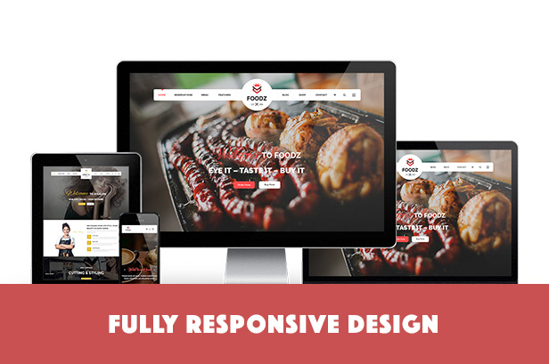 Foodz - Restaurant, Spa & Salon Joomla Template - 1