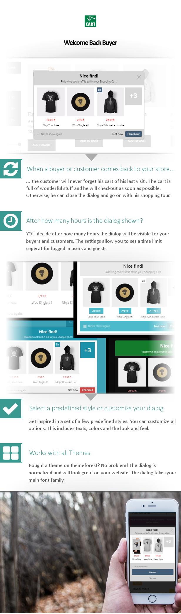 WooCommerce Userfriendly Cart Reminder - 3