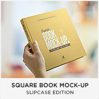 Square Book Mock-up / Dust Jacket Complete Edition - 4