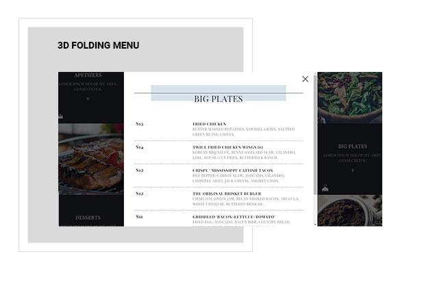Lily | One Page Restaurant WordPress Theme - 8