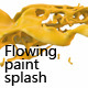 Variety of Isolated 3D Paint Splashes 1 - 11