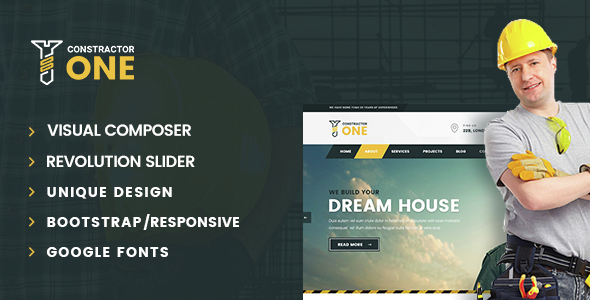 Construction One | Construction WordPress Theme