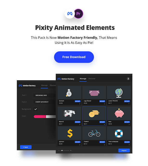 Pixity Animated Icons for Premiere Pro by Pixflow | VideoHive