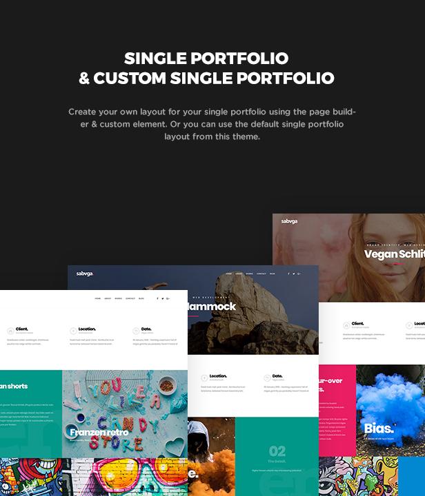 Sabvga - Modern & Creative Portfolio Theme - 5
