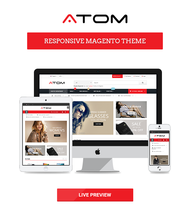 Atom - Multipurpose Responsive Magento Theme by magentech | ThemeForest