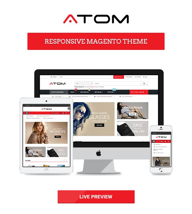 Atom - Responsive Magento theme