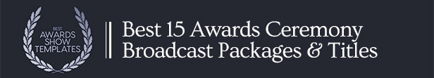 Best Awards Ceremony After Effects Template