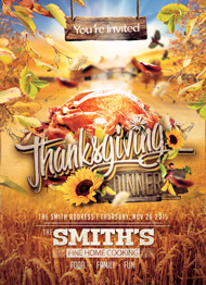 Design Cloud: Thanksgiving Dinner Flyer Template