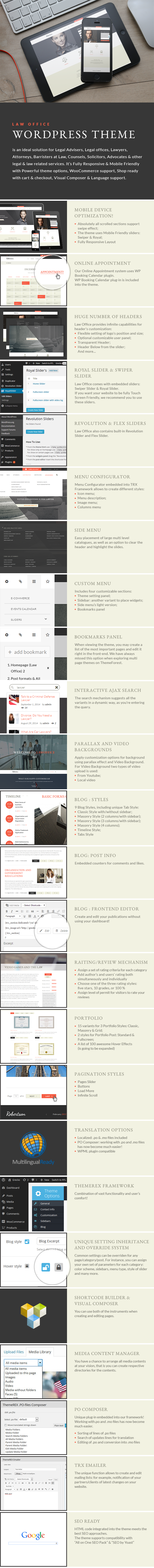 Law Office | A Lawyers Attorneys Legal Office WordPress Theme + RTL - 1