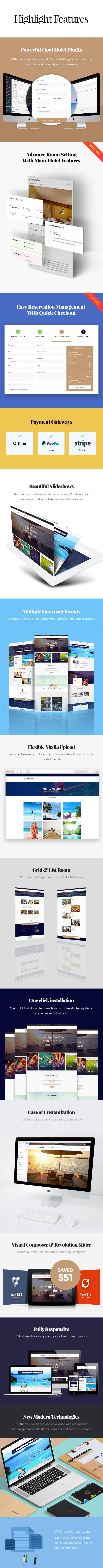 Paradise - Hotel & Resort Responsive WordPress Theme - 9