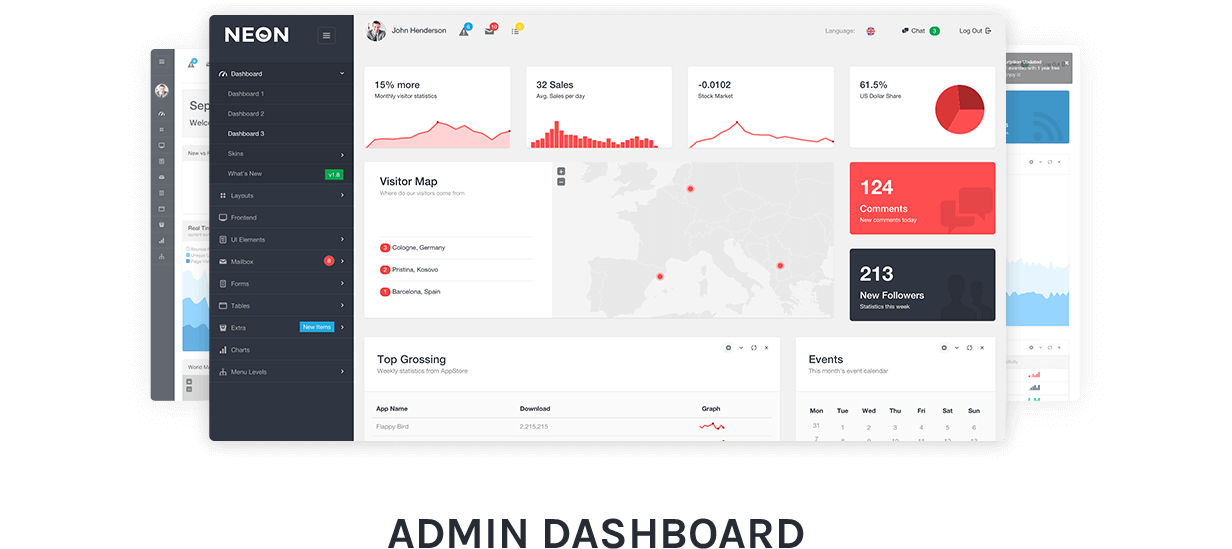 Neon - Bootstrap Admin Theme by Laborator | ThemeForest