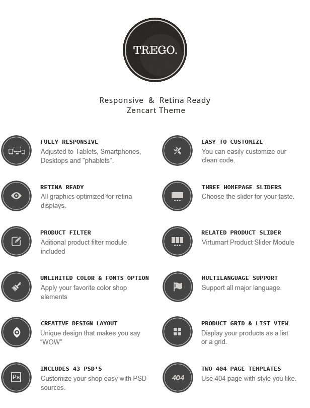 Trego - Premium Responsive Zencart Theme - 2