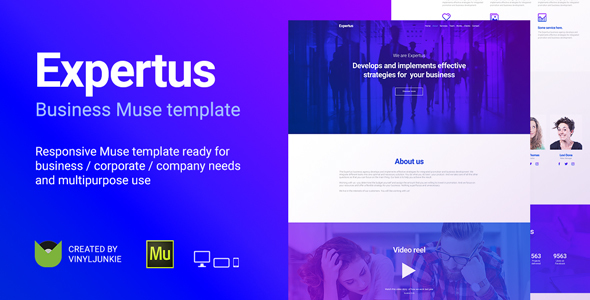 Expertus - Business / Corporate / Company Responsive Muse Template