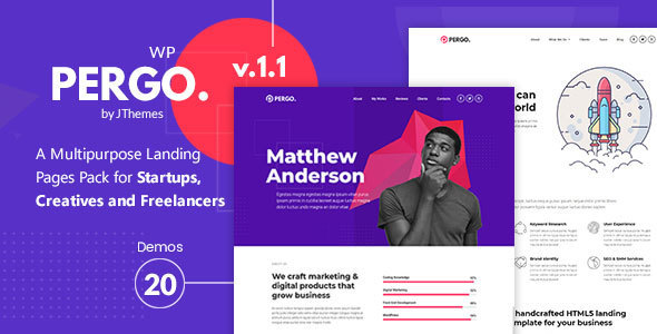 Genemy - Creative Multi Concept Landing Pages Pack With Page Builder - 4
