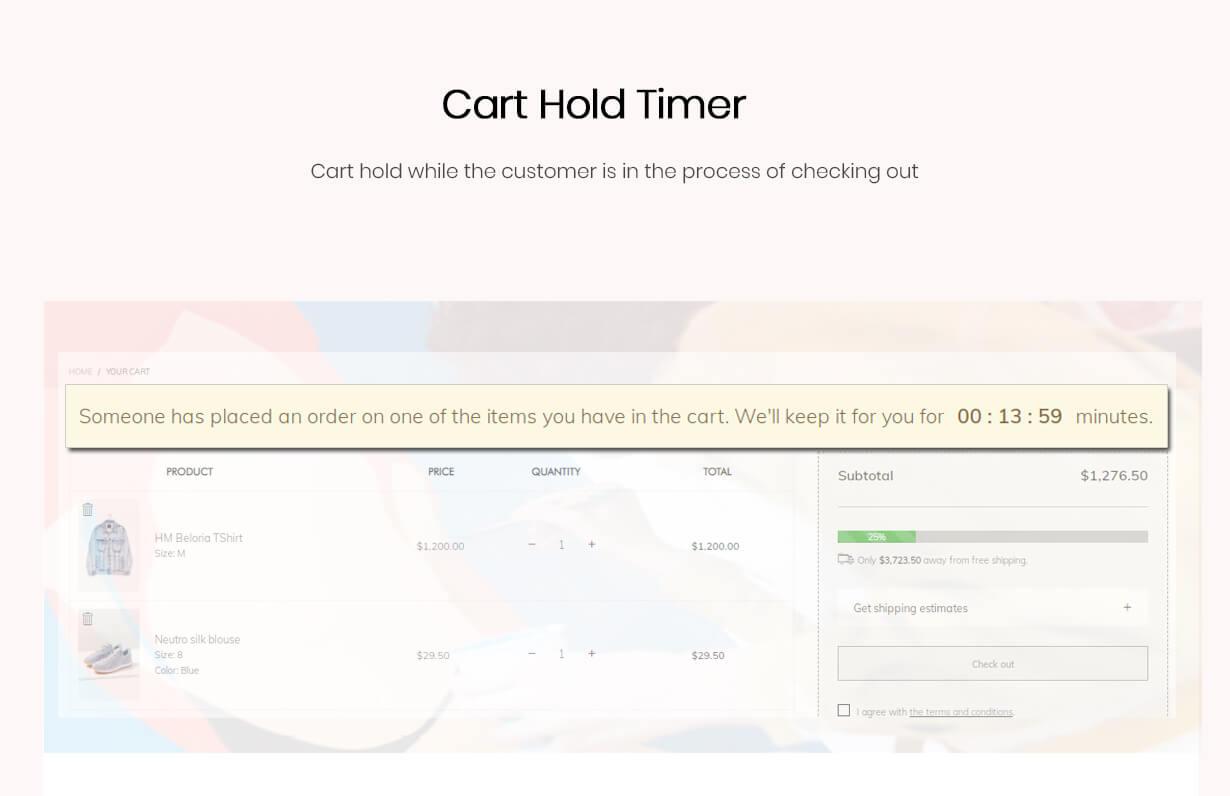 Cart hold timer