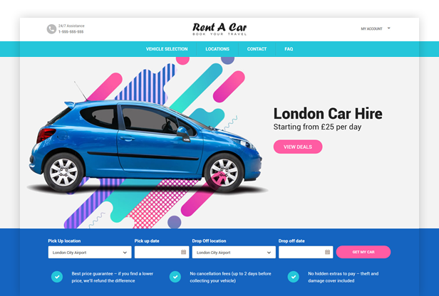 Rent A Car WordPress Theme