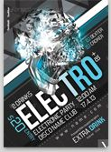 Electronic Party Flyer Destroyed template