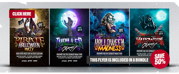 Thriller Party Flyer Template - 1