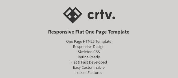Crtv - Responsive Flat One Page Template - 1