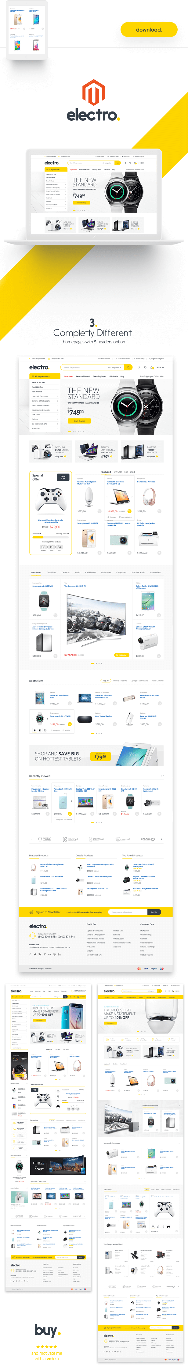 Electro - Responsive Magento 1 & 2 Theme ( RTL magento 2 supported )