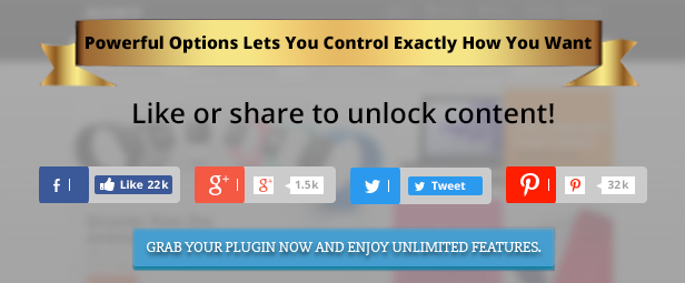 Wordpress Content Locker Plugin Main Powerful Features