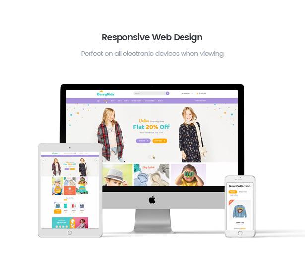 BerryKid fully responsive baby store WooCommerce WordPress theme
