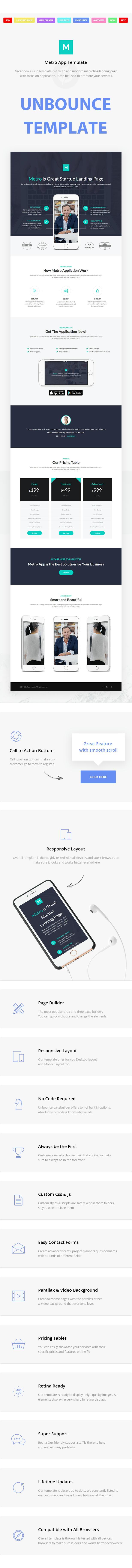 Metro App - Unbounce Landing Page - 1