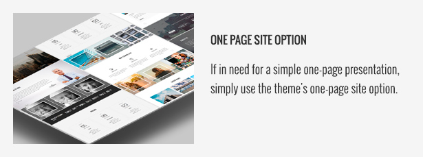 One Page Site Option