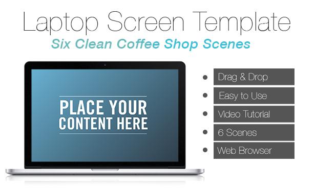 laptop screen template by alex watson videohive