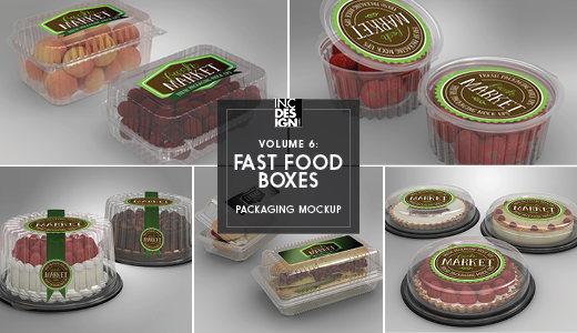 fast food boxes vol 6 take out packaging mock ups by ina717