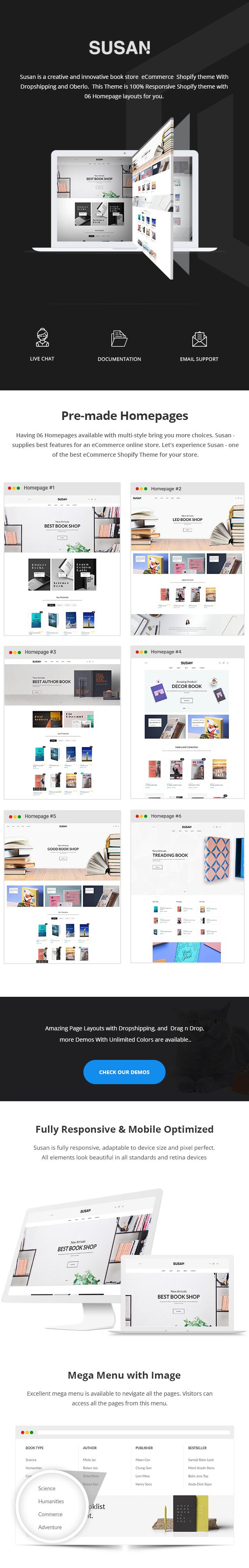 Susan - Book Store Shopify Theme - 1