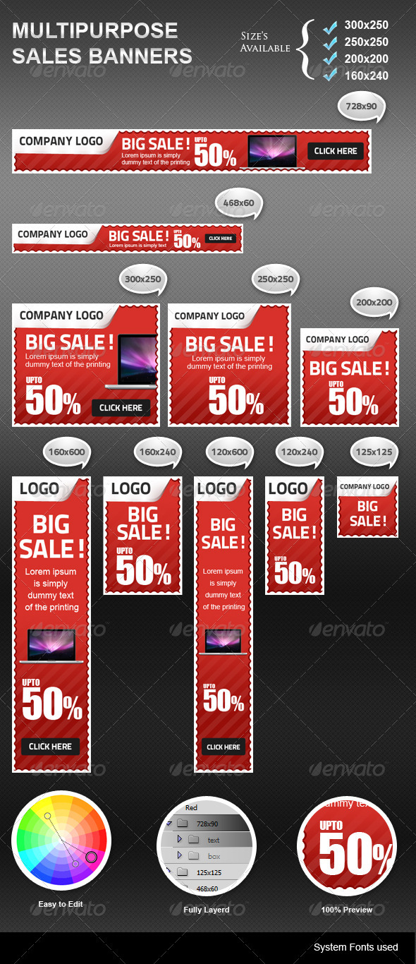 Sales Banners