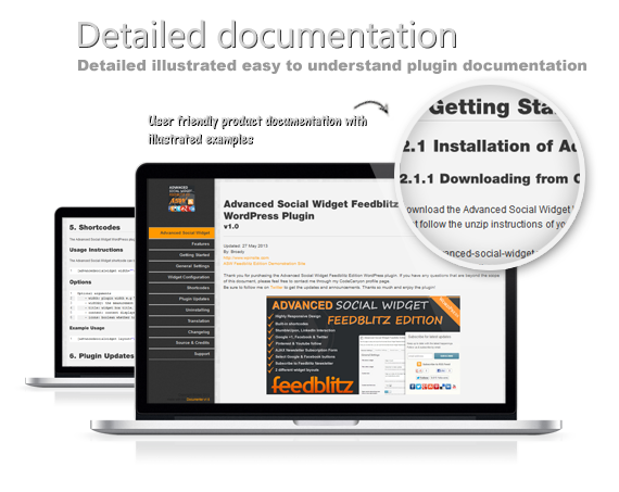 Detailed illustrated easy to understand plugin documentation