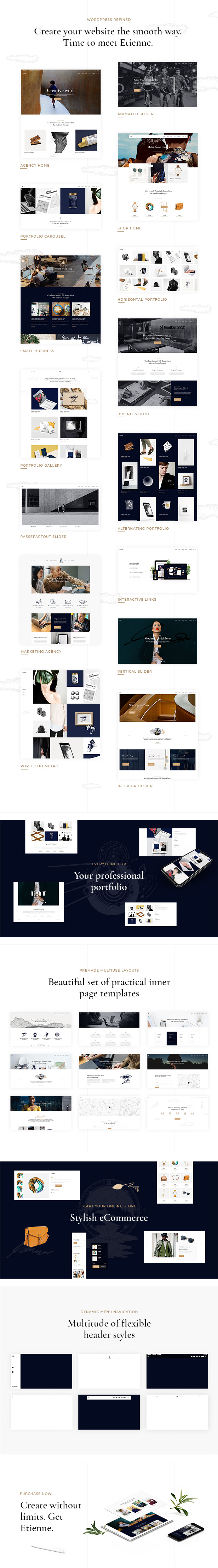 Etienne - Refined Multipurpose WordPress Theme - 1