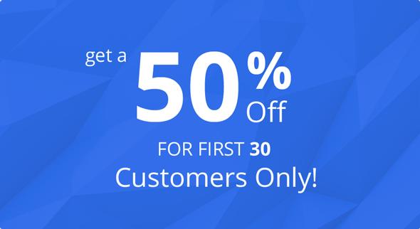 50-percent-first-30-sales