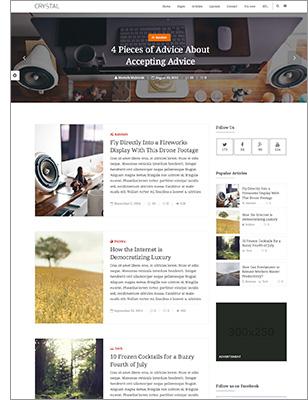 Crystal   Personal Blog WordPress Theme - 7