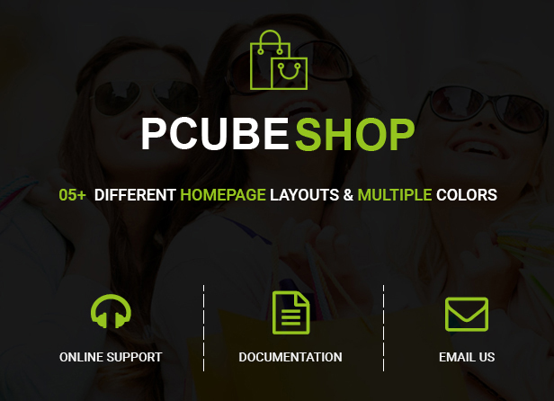 Pcube Shop Ecommerce HTML5 Template - 1