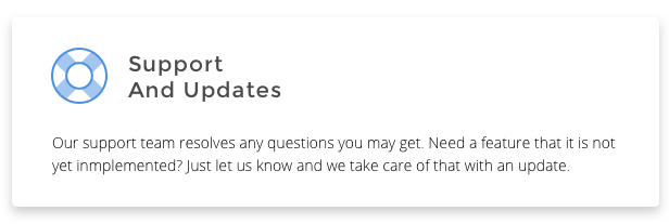 Why ForIT theme? Support And Updates: Our support team resolves any questions you may get. Need a feature that it is not yet inmplemented? Just let us know and we take care of that with an update.