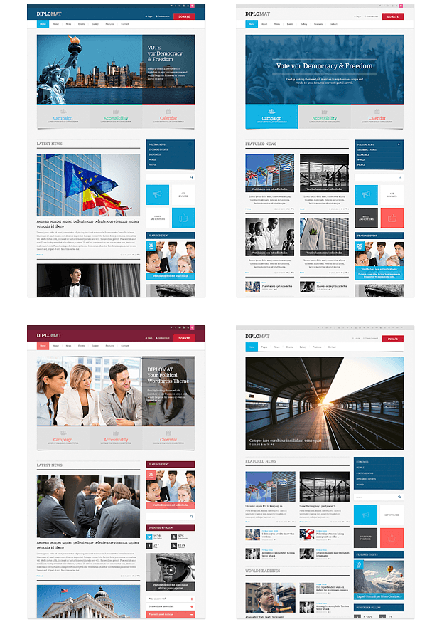 Political HTML5 Template