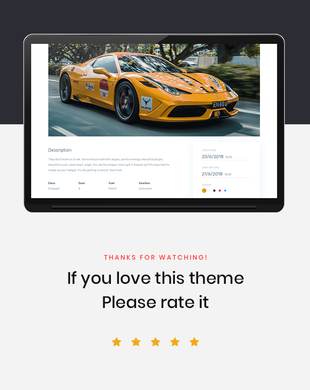 Leo Rent Car - Car Rental Website PrestaShop Theme - 1