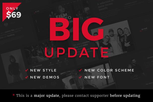 Filmmaker Director Film Studio WordPress Theme - BIG update