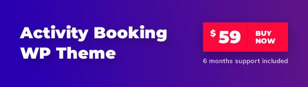 Buy Activity Booking WordPress Theme