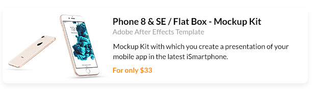 Mockup Kit with which you create a presentation of your mobile app in the latest iSmartphone.