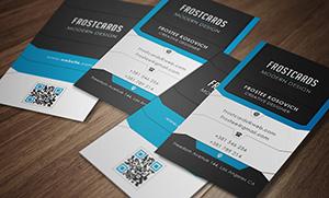 Modern Business Card Template No 5. - 2